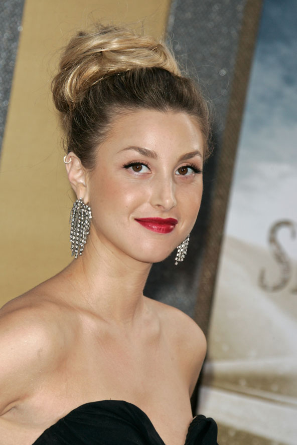 Whitney Port and red lipstick make the knot red carpet ready