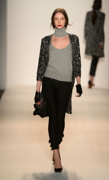 This sequined cardi was one of my favorite pieces by Rachel Zoe to waltz down the runway.