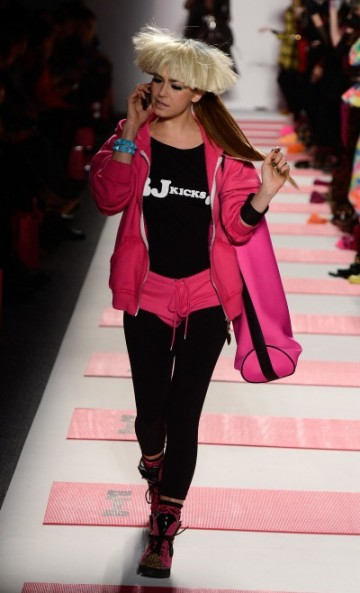 While I don't love the Betsey Johnson workout apparel, I could see myself loving her work out accessories.