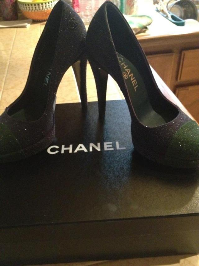 Chanel heels+ Sparkle+LA Fashion Week= A match made in heaven <3