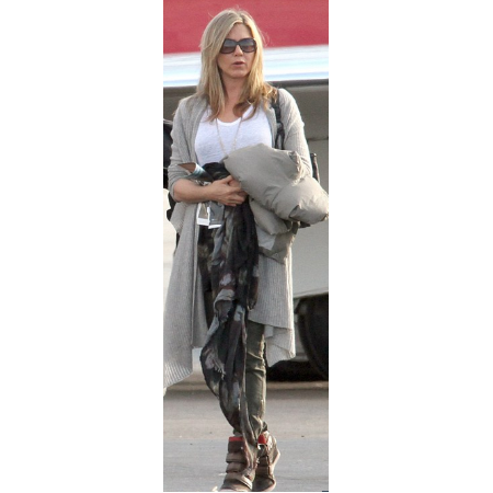 Jennifer Aniston wearing her Corte A.S. 98 Wedge Sneakers.
