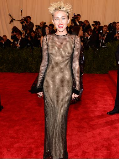 If this look had not already been done at least two other times at the Gala I would probably adore this. But from such a free spirit as Miley, I expected more originality.