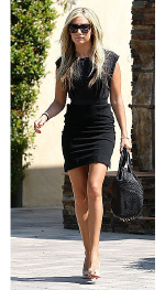Ashley Tisdale looking super chic in a Free People LBD