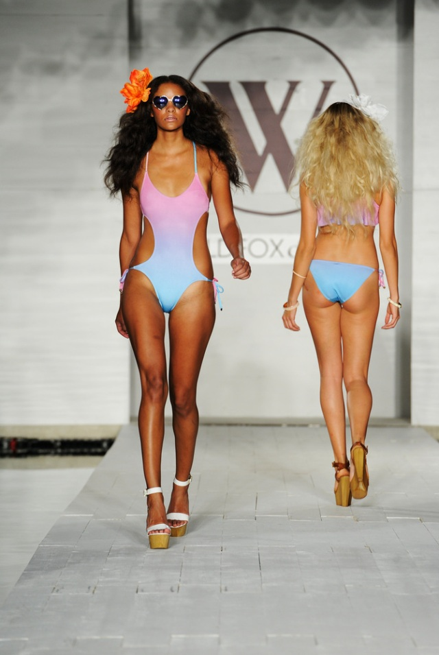 I L.O.V.E this bubblegum ombre side cut out one piece suit! It reminds me of my favorite cotton candy popsicle!