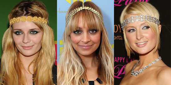 One of the easiest ways to achieve the hippie look is to throw on a gypsy headband as seen on these trend setters.