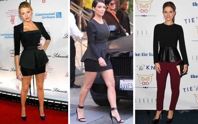 Celebrities who look pretty in peplum too.