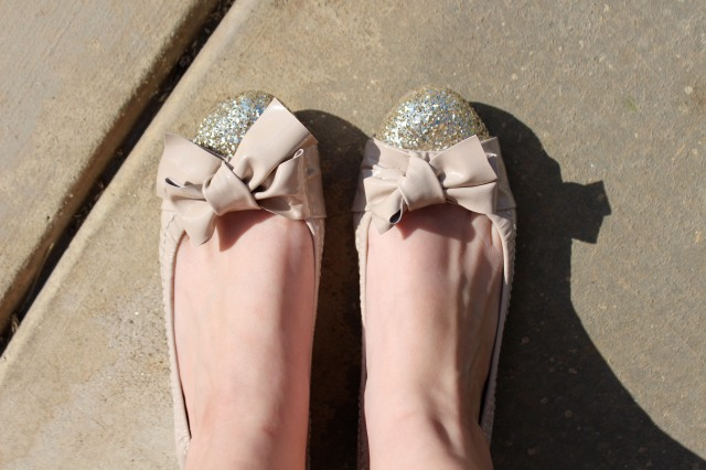 The newest addition to my ballet flat collection! Hello Miu Miu, you're so pretty and sparkly and I love you!