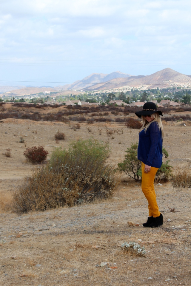 """First investment for the Fall weather, LEATHER PANTS! And I opted away from the more traditional """"black leather."""" Yellow is more bright, and full of life. Yellow, is more me, """"just Jess."""""""