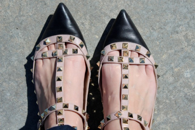 One of my favorite pairs of shoes in my shoe collection, my  pretty pink Valentinos.