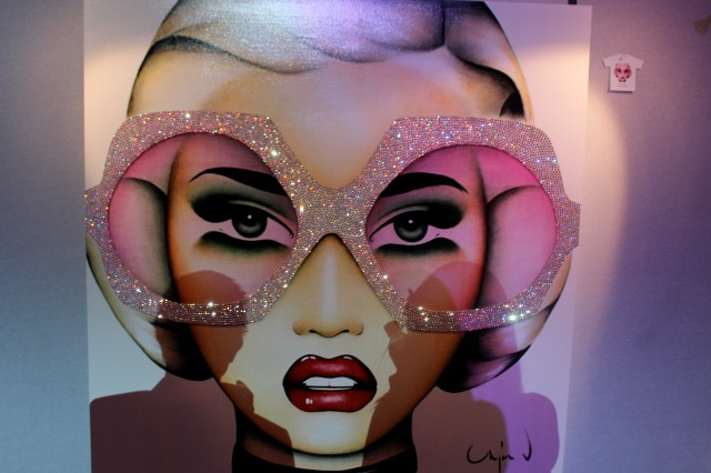 Art work by Anja Van Herle. And yes those glasses are actually bedazzled. Naturally I want this.