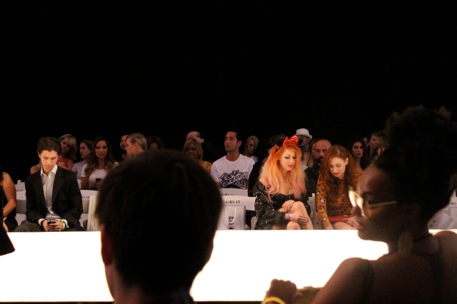 Bonnie Mckee, rocking Minnie Mouse ears front row. I love her!