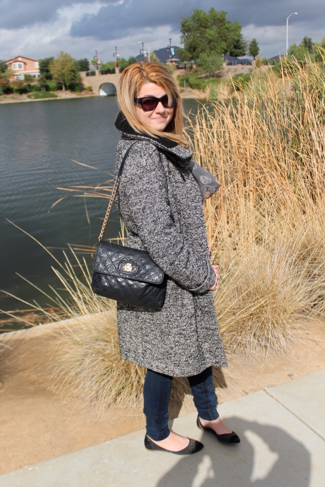 It was even cold enough today to debut my Akris Punto Coat!