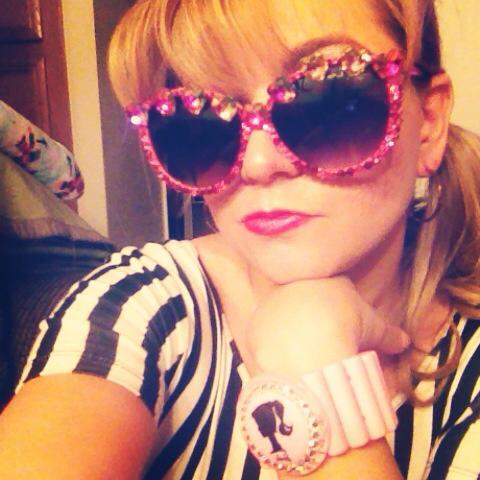 Classic Barbie Leotard: Forever 21 Sunglasses: By Me Bracelet: Tarina Tarantino