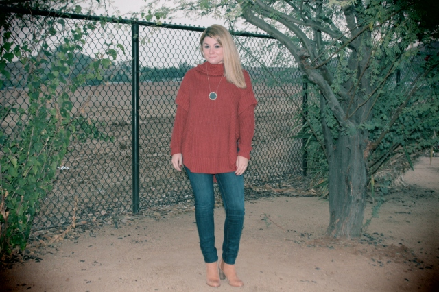 Top: 5/48 Jeans: J Brand Boots: Joie Necklace: House of Harlow
