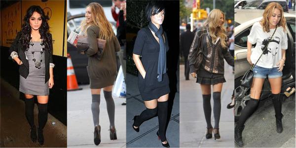 Celebritis who ;ove their thigh high socks.