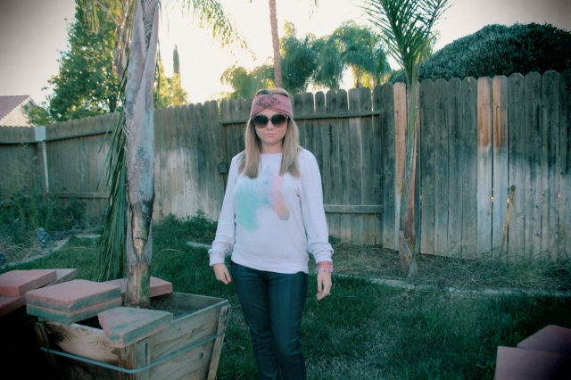 Sweater: Wildfox Jeans: Textile Elizabeth and James Headband: Charming Charley