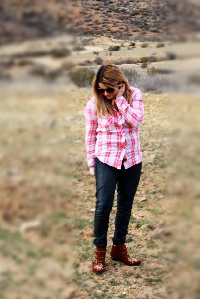 Top: Rails Jeans: Textile Elizabeth and James Shoes: Chloe