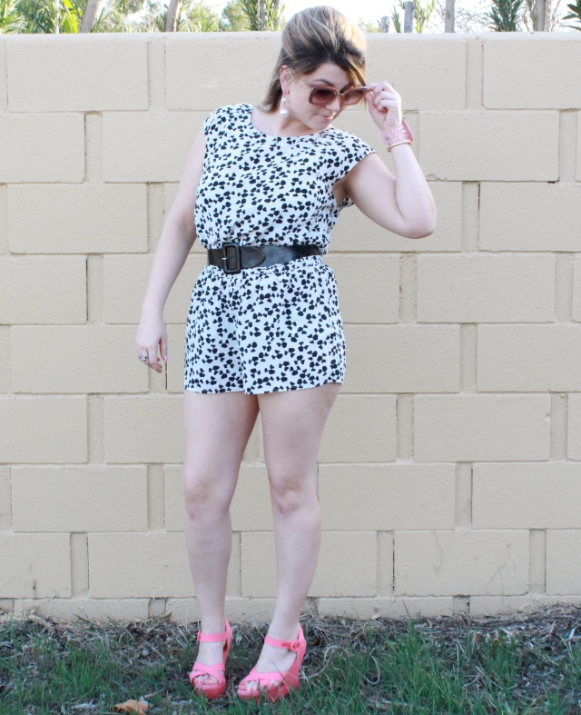 Romper: Joie Belt: H&M Shoes: Alice and Olivia