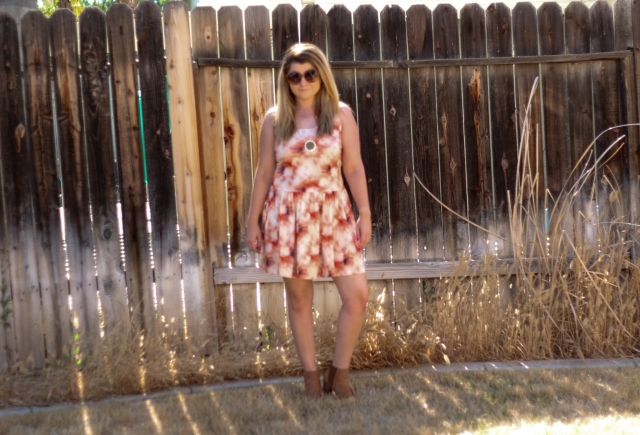 Dress: Whitney Eve Sunglasses: Chloe Boots: Joie