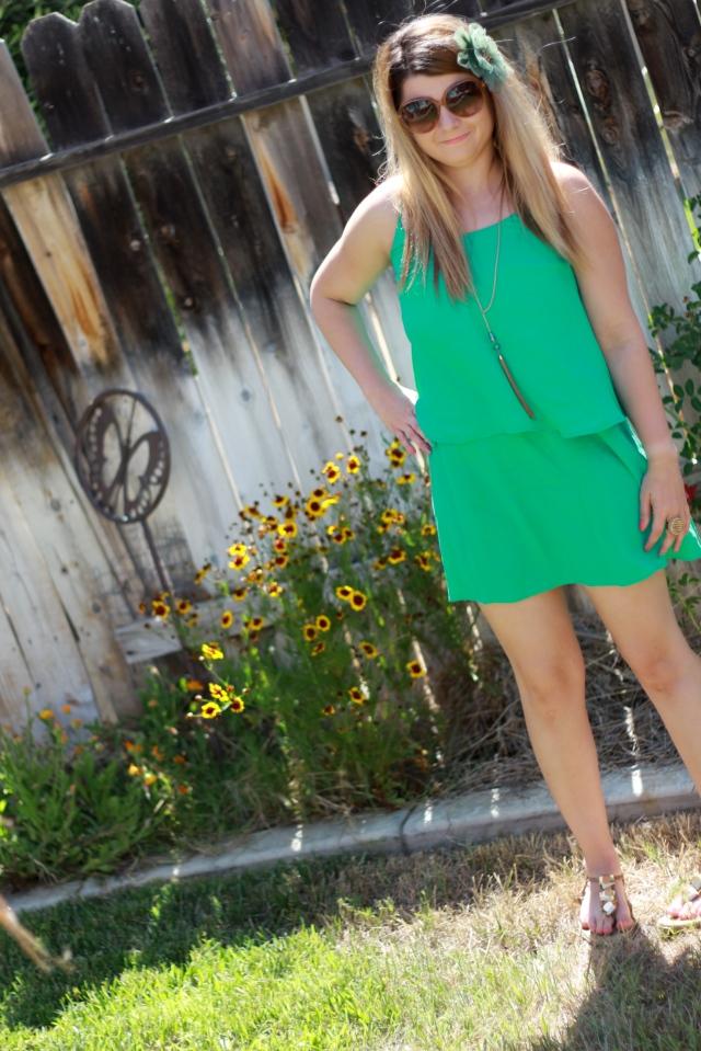 Dress: Patterson J Kincaid Sandals: Diane Von Furstenberg Hair Clip: Tarina Tarantino