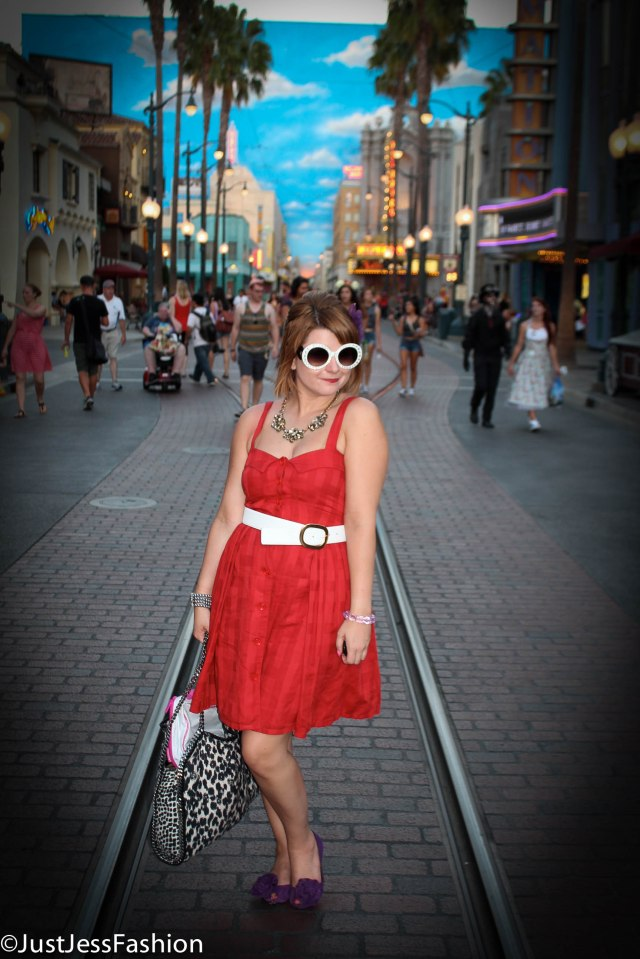 Dapper Day Ensemble! Dress: Marc by Marc Jacobs Belt: Saks Fifth Avenue Black Label Shoes: Betsey Johnson Sunglasses: Prada