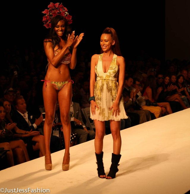 "Katya Leoncio debuted her newest collection of swimmer for ""Dolcessa"" at Style Fashion Week LA Friday evening."
