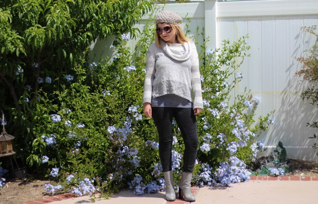 Beanie: H&M Sweater: Free People Leggings: James Pearse Boots: Celine Sunnies: Prada