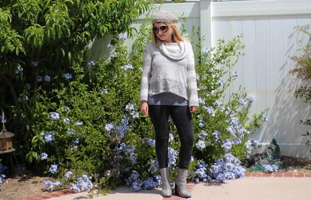 Beanie: H&M Sweater: Free People Leggings: James Pearse Boots: Celine Sunnies: Prada