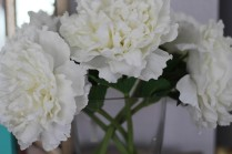 White flowers continue to be the perfect accent in every room.